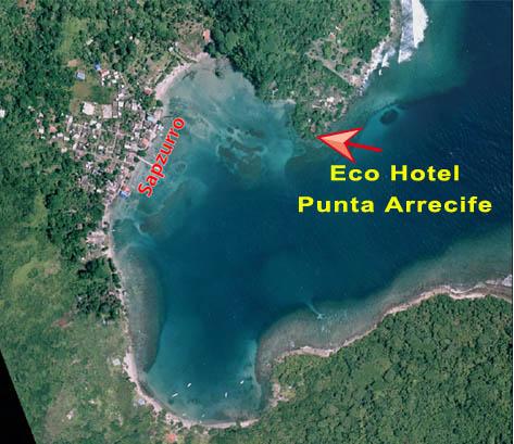vista satelital de sapzurro